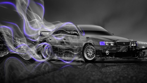 Toyota-Chaser-JZX100-JDM-Crystal-City-Drift-Plastic-Smoke-Car-2014-Violet-Neon-HD-Wallpapers-design-by-Tony-Kokhan-[www.el-tony.com]
