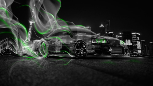 Toyota-Chaser-JZX100-JDM-Crystal-City-Smoke-Drift-Car-2014-Green-Neon-HD-Wallpapers-design-by-Tony-Kokhan-[www.el-tony.com]
