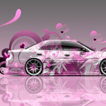 Toyota Chaser JZX100 JDM Side Anime Aerography Car 2014
