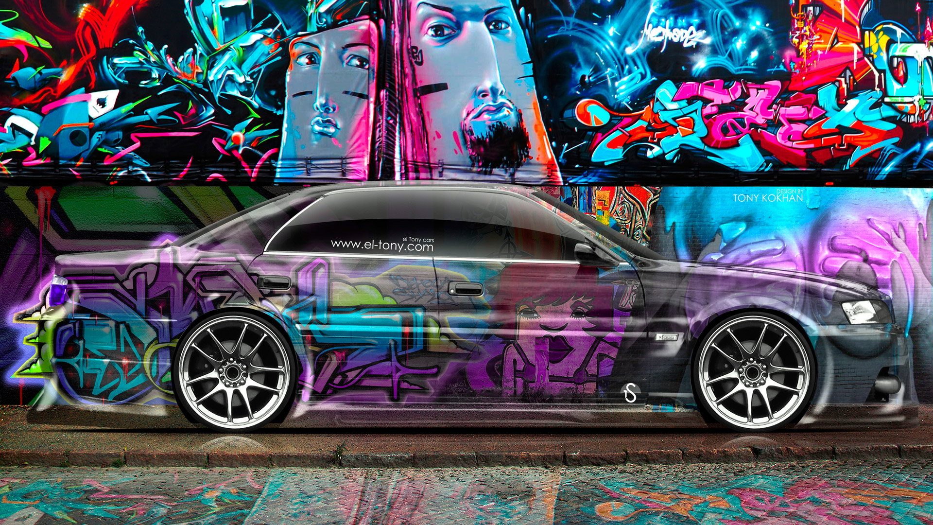 Delicieux Toyota Chaser JZX100 JDM Side Crystal Graffiti Car