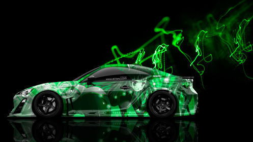 Toyota-GT86-JDM-Side-Anime-Aerography-Car-2014-Green-Effects-HD-Wallpapers-design-by-Tony-Kokhan-[www.el-tony.com]