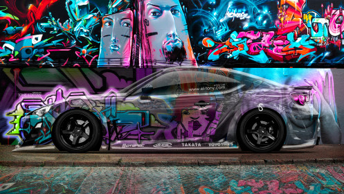 Toyota-GT86-JDM-Side-Crystal-Graffiti-Car-2014-Multicolors-HD-Wallpapers-design-by-Tony-Kokhan-[www.el-tony.com]