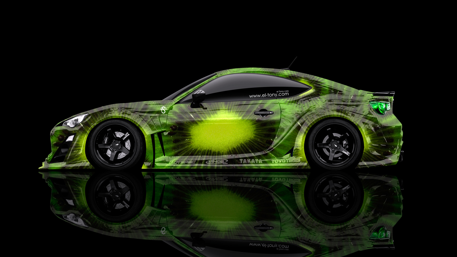 Charmant Toyota GT86 JDM Side Kiwi Aerography Car 2014