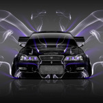 Toyota Mark2 JZX100 JDM Tuning Front Smoke Car 2014