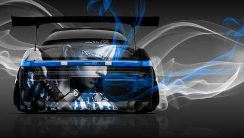 Toyota-Mark2-JZX90-JDM-Back-Girl-Samurai-Aerography-Blue-Smoke-Car-2014-HD-Wallpapers-design-by-Tony-Kokhan-[www.el-tony.com]
