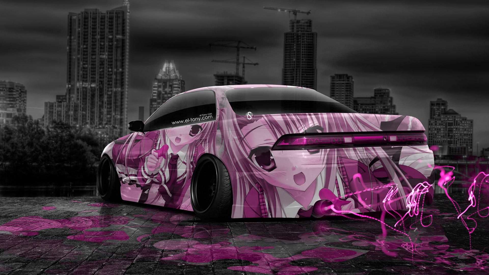 Toyota Mark2 JZX90 JDM Tuning Anime Aerography Girl