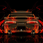 Toyota Soarer JDM Tuning Back Fire Abstract Car 2014