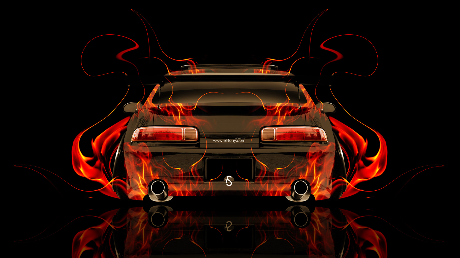 Toyota Soarer JDM Tuning Back Fire Abstract Car