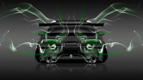 Toyota-Soarer-JDM-Tuning-Back-Smoke-Car-2014-Green-Neon-HD-Wallpapers-design-by-Tony-Kokhan-[www.el-tony.com]