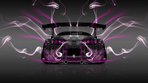 Toyota-Supra-JDM-Tuning-Back-Smoke-Car-2014-Pink-Neon-HD-Wallpapers-design-by-Tony-Kokhan-[www.el-tony.com]