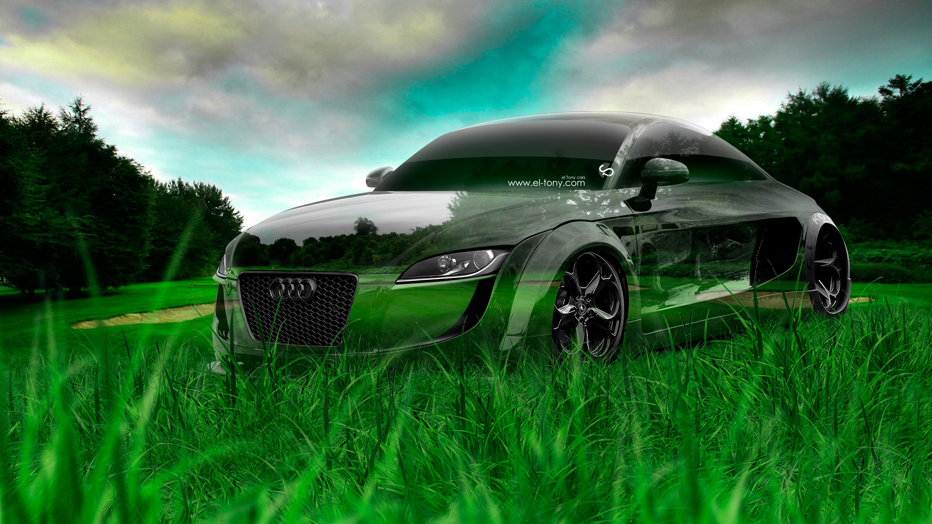 Elegant Superieur Audi TT Tuning Crystal Nature Car 2014