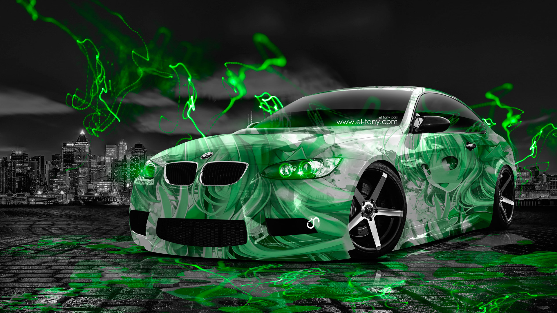 Bmw E92 M3 Anime Aerography City Car 2014 El Tony