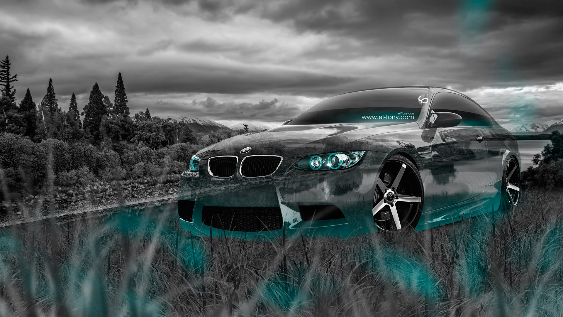 Attractive ... BMW E92 M3 Crystal Nature Car 2014 Azure