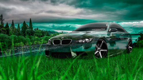 BMW-E92-M3-Crystal-Nature-Car-2014-Green-Grass-HD-Wallpapers-design-by-Tony-Kokhan-[www.el-tony.com]