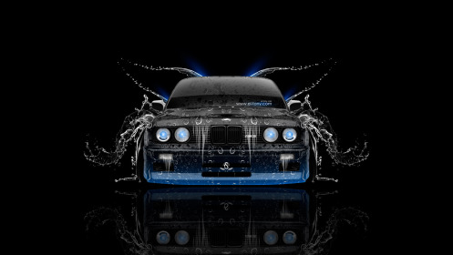 BMW-M3-E30-Front-Water-Car-2014-Blue-Neon-HD-Wallpapers-design-by-Tony-Kokhan-[www.el-tony.com]