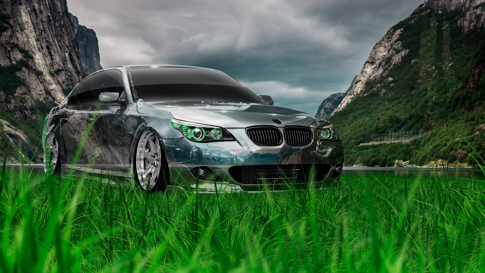 Bmw M5 E60 Tuning Crystal Nature Car 2014 El Tony