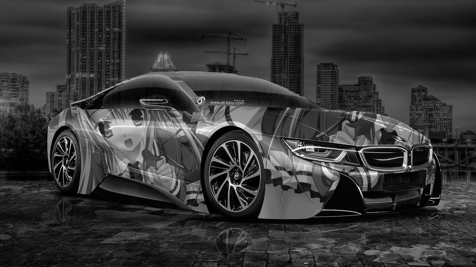 BMW i8 Anime Aerography City Car 2014 el Tony