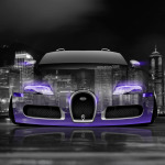 4K Wallpapers Bugatti Veyron Front Crystal City Car 2014