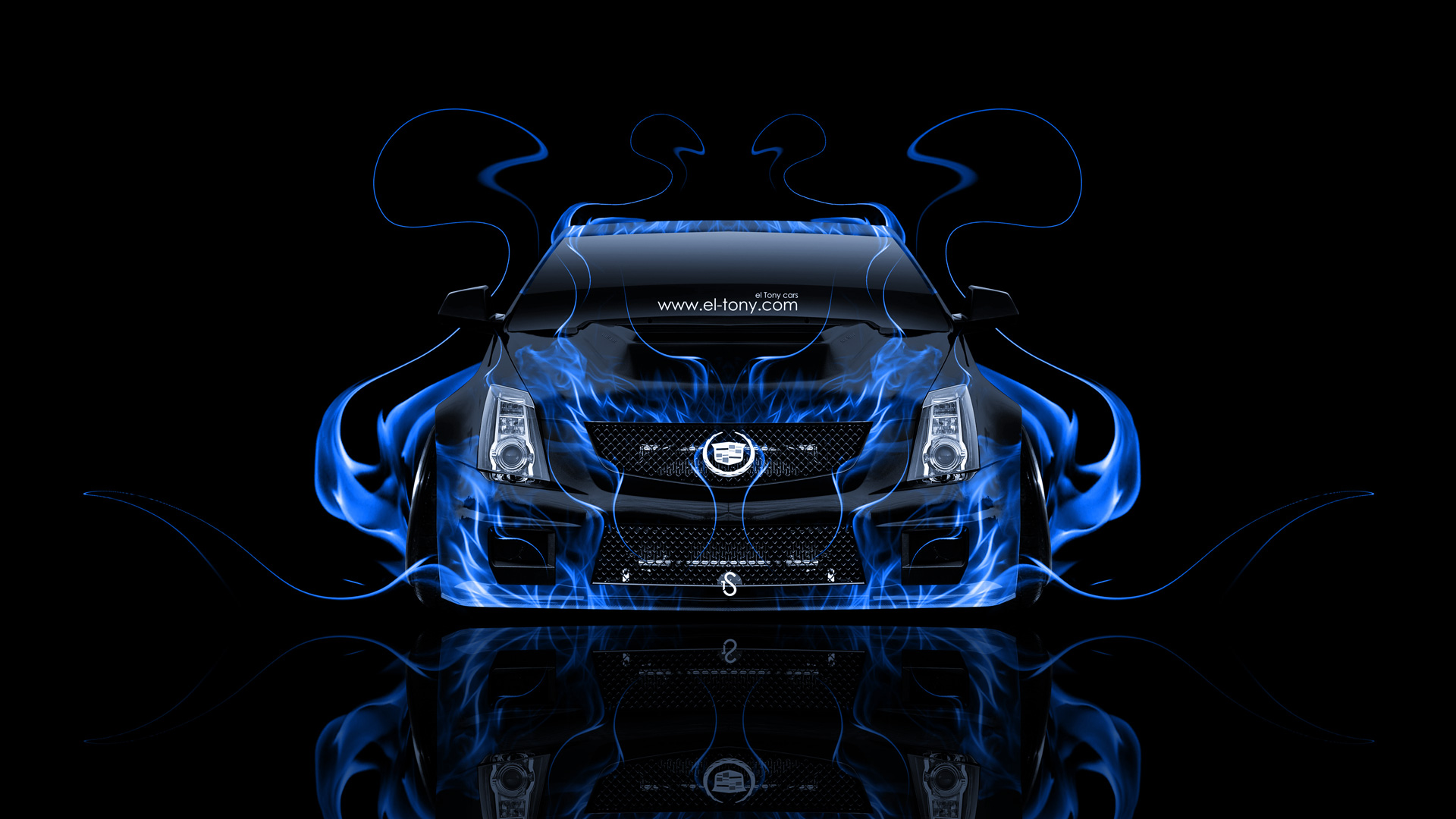 Cadillac Cts V Hennessey Tuning Front Fire Car 2014 El Tony