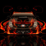 Cadillac CTS-V Hennessey Tuning Front Fire Car 2014
