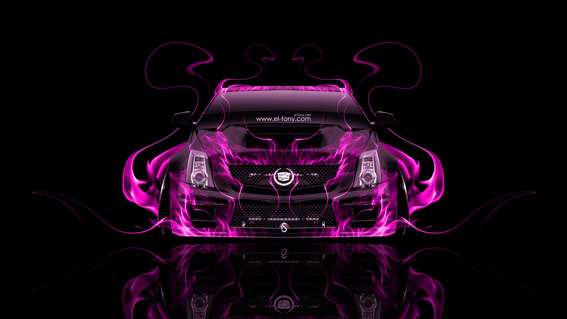 ... Cadillac CTS V Hennessey Tuning Front Pink Fire  ...