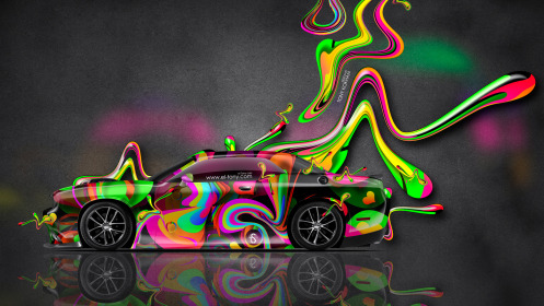 Dodge-Challenger-Muscle-Side-Super-Plastic-Abstract-Aerography-Car-2014-Multicolors-HD-Wallpapers-design-by-Tony-Kokhan-[www.el-tony.com]