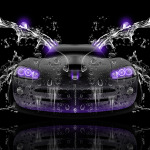 Dodge Viper SRT Front Water Car 2014