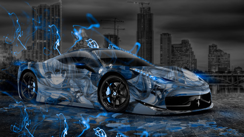 Ferrari-458-Italia-Anime-Girl-Aerography-City-Car-2014-Blue-Neon-Effects-HD-Wallpapers-design-by-Tony-Kokhan-[www.el-tony.com]