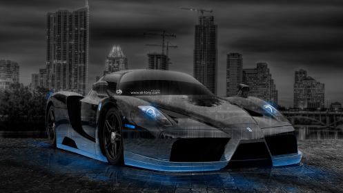 Ferrari-Enzo-Crystal-City-Car-2014-Blue-Neon-HD-Wallpapers-design-by-Tony-Kokhan-[www.el-tony.com]