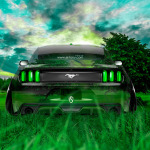 Ford Mustang Muscle Back Crystal Nature Car 2014
