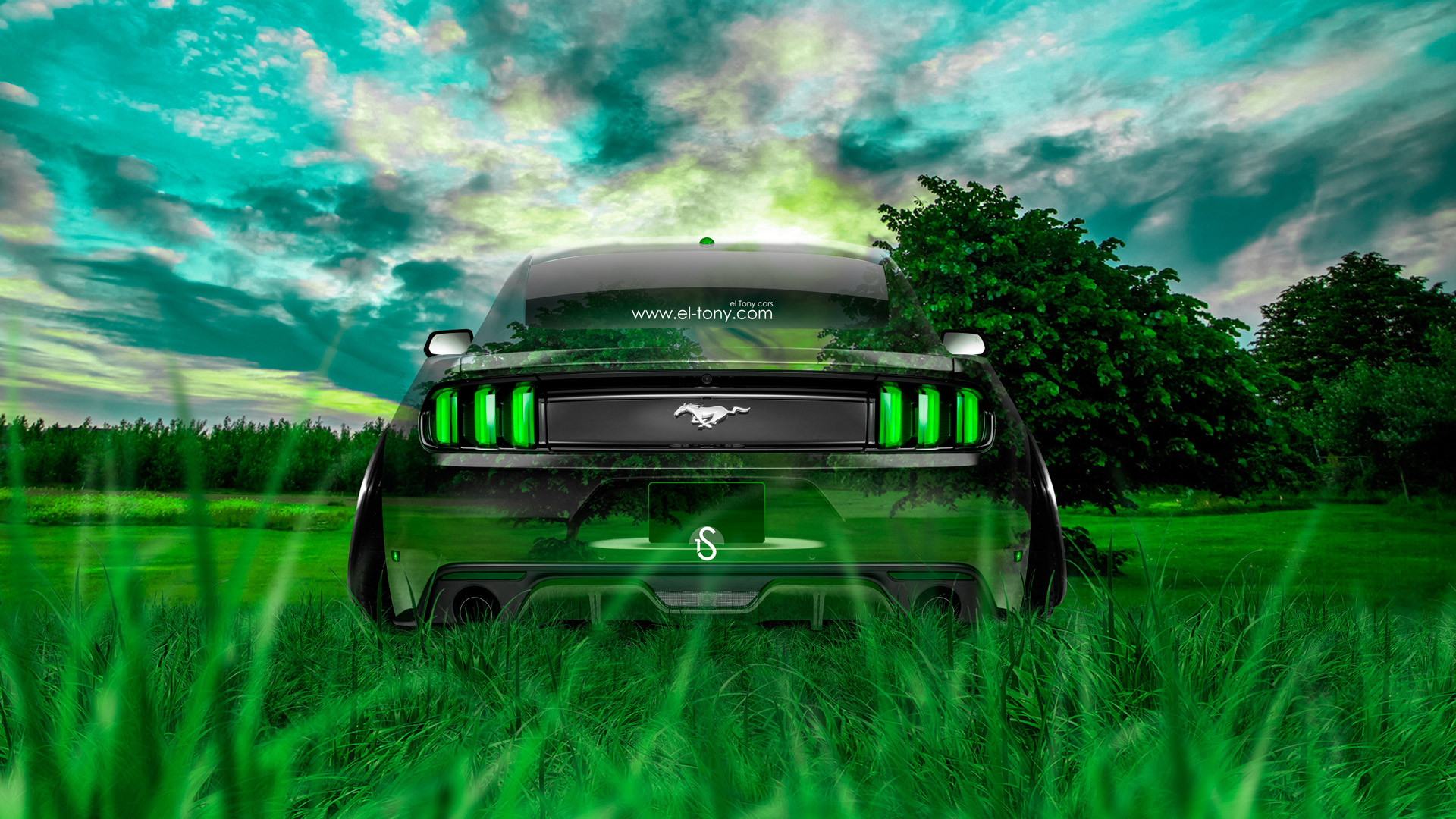 ... Ford Mustang Muscle Back Crystal Nature Car 2014