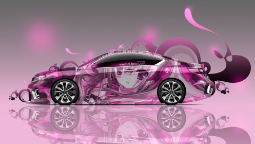 Honda-Accord-Coupe-JDM-Side-Anime-Girl-Aerography-Car-2014-Pink-Soft-Image-HD-Wallpapers-design-by-Tony-Kokhan-[www.el-tony.com]