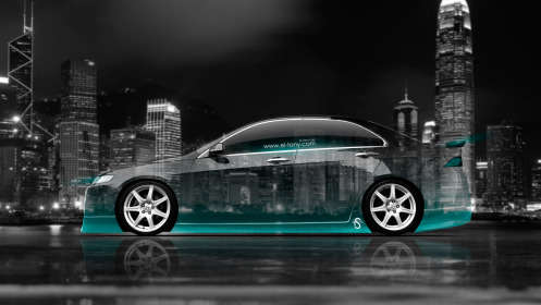 Honda-Accord-JDM-Side-Crystal-City-Car-2014-Azure-Neon-HD-Wallpapers-design-by-Tony-Kokhan-[www.el-tony.com]