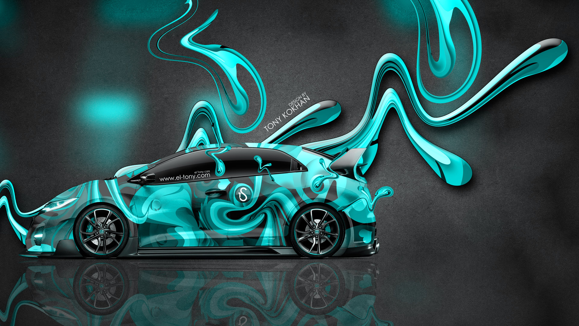 Charming ... Honda Civic Type R JDM Side Super Abstract