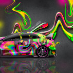 Honda Civic Type-R JDM Super Abstract Plastic Car 2014