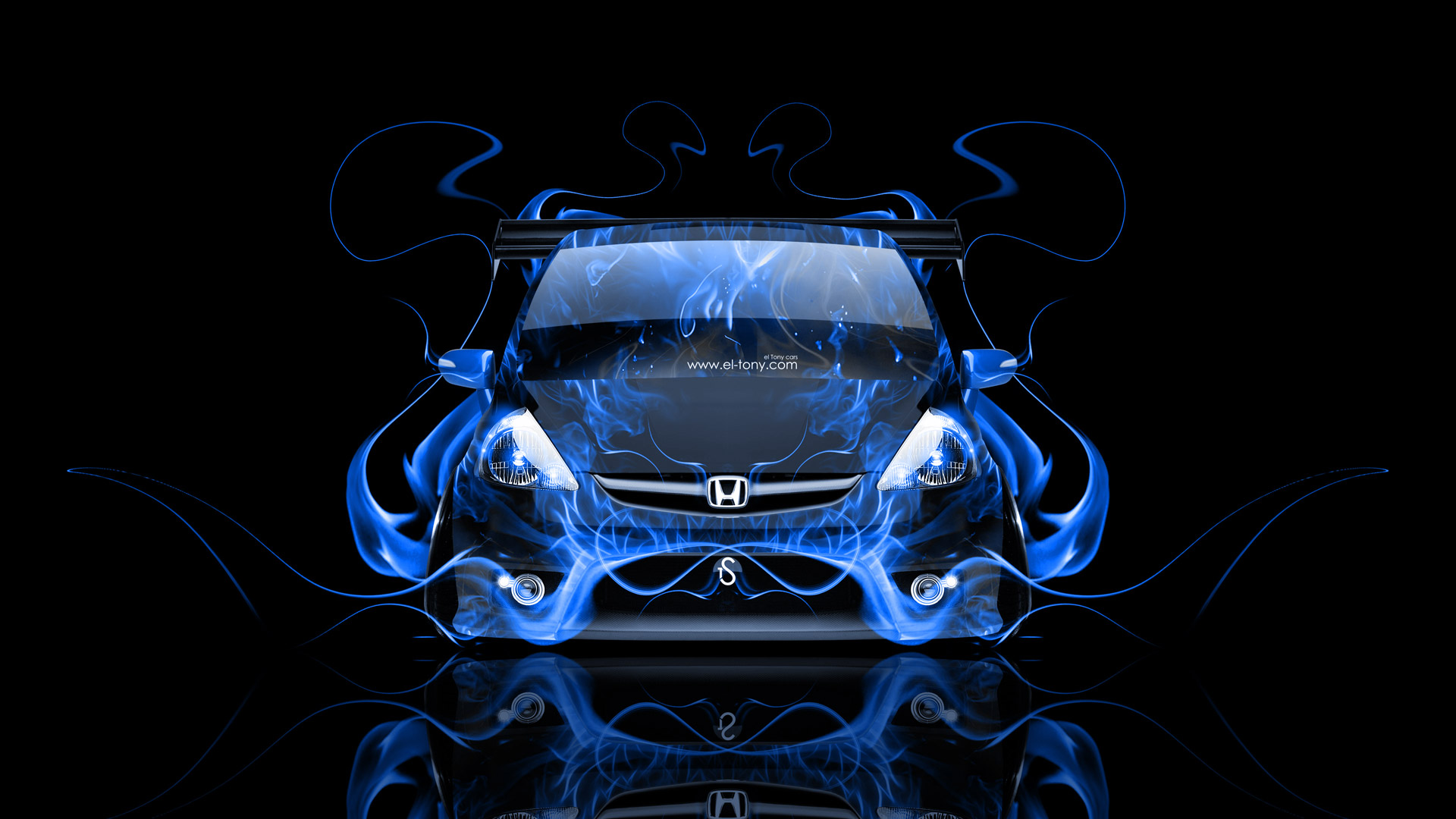 Wallpapers Honda Fit Tuning Jdm Front Fire Car 2014