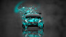 Honda-Fit-Tuning-JDM-Front-Domo-Kun-Toy-Car-2014-Art-Azure-Colors-HD-Wallpapers-design-by-Tony-Kokhan-[www.el-tony.com]