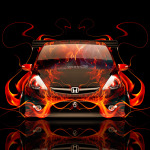 Honda Fit Tuning JDM Front Fire Car 2014