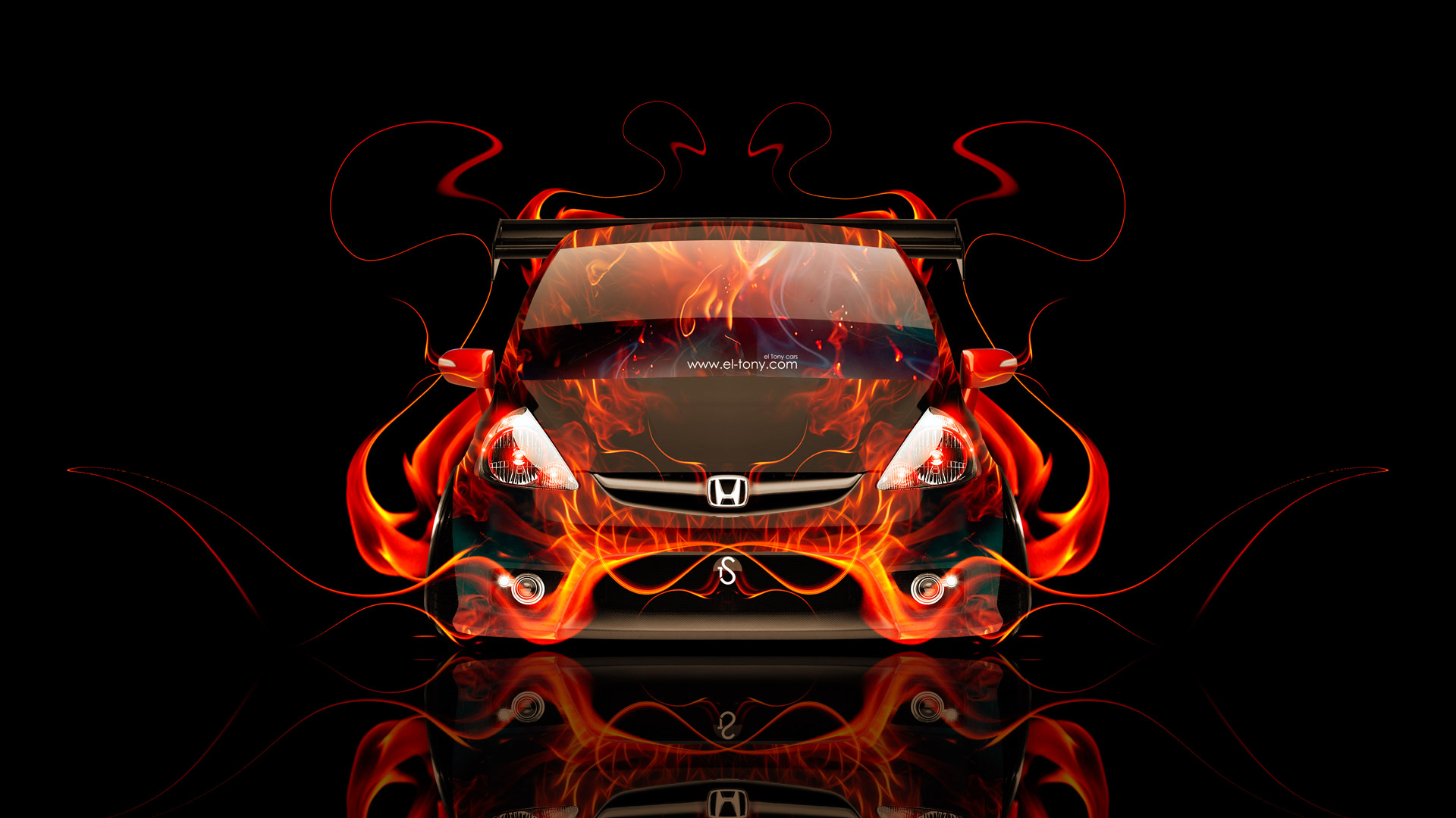 Genial ... Honda Fit Tuning JDM Front Fire Car 2014