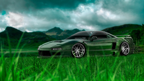 Honda-NSX-JDM-Crystal-Nature-Car-2014-Green-Grass-HD-Wallpapers-design-by-Tony-Kokhan-[www.el-tony.com]