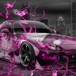Honda S2000 JDM Anime Girl Aerography City Car 2014