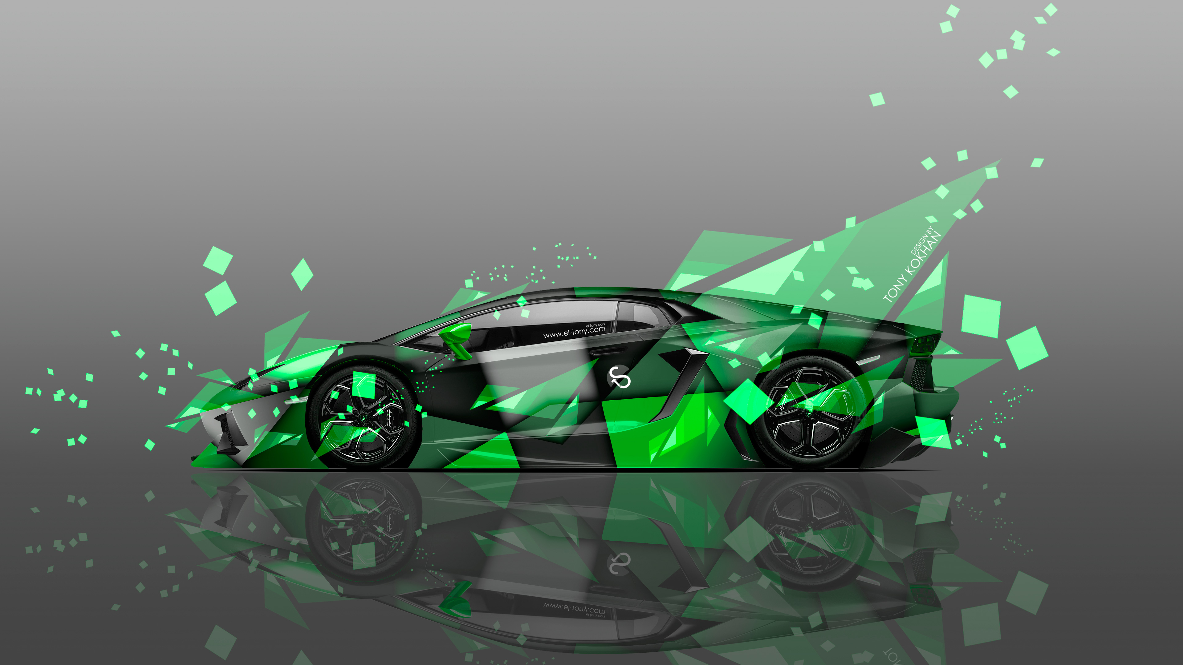 4K Wallpapers Lamborghini Aventador Side Aerography Car 2014