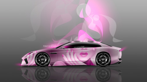 Lamborghini-Estoque-Side-Glamour-Girl-Aerography-Car-2014-Pink-Neon-Effects-4K-Wallpapers-design-by-Tony-Kokhan-[www.el-tony.com]