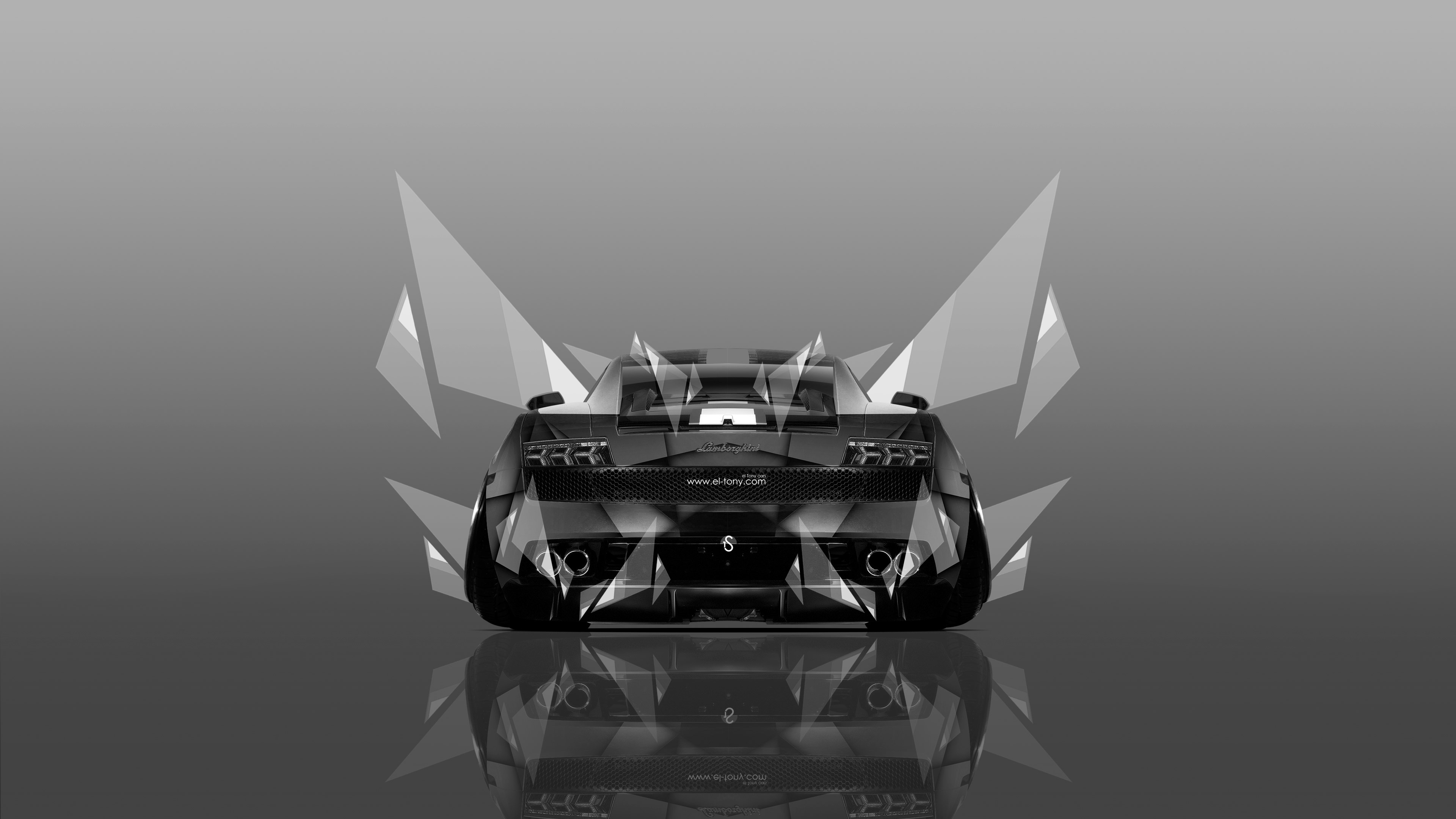 Superieur ... Lamborghini Gallardo Back Abstract Aerography Car 2014 Black  ...