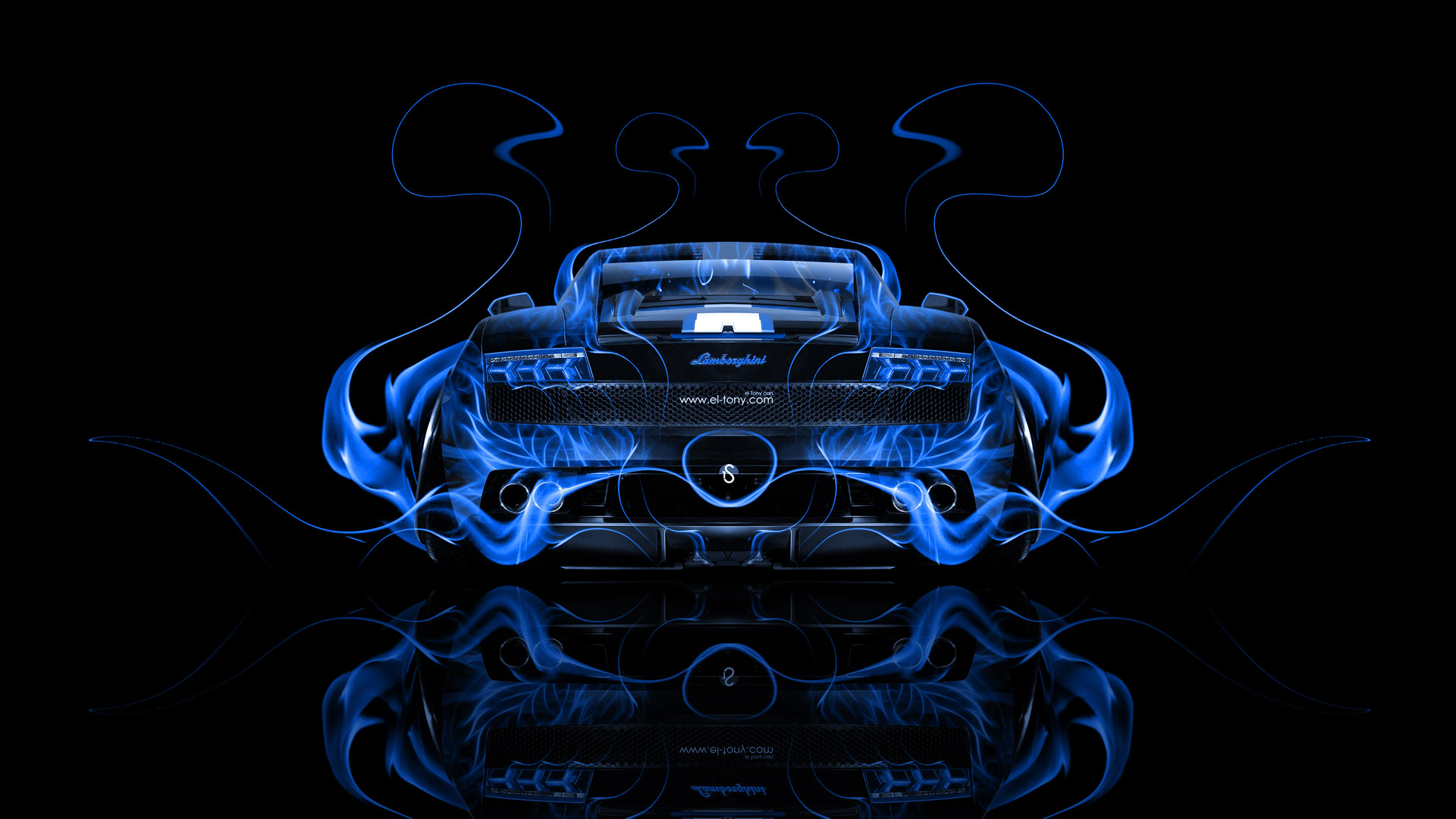 Lamborghini Gallardo Back Fire Abstract Car 2014 El Tony