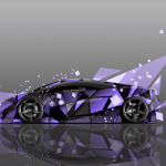 4K Lamborghini Gallardo Side Abstract Aerography Car 2014