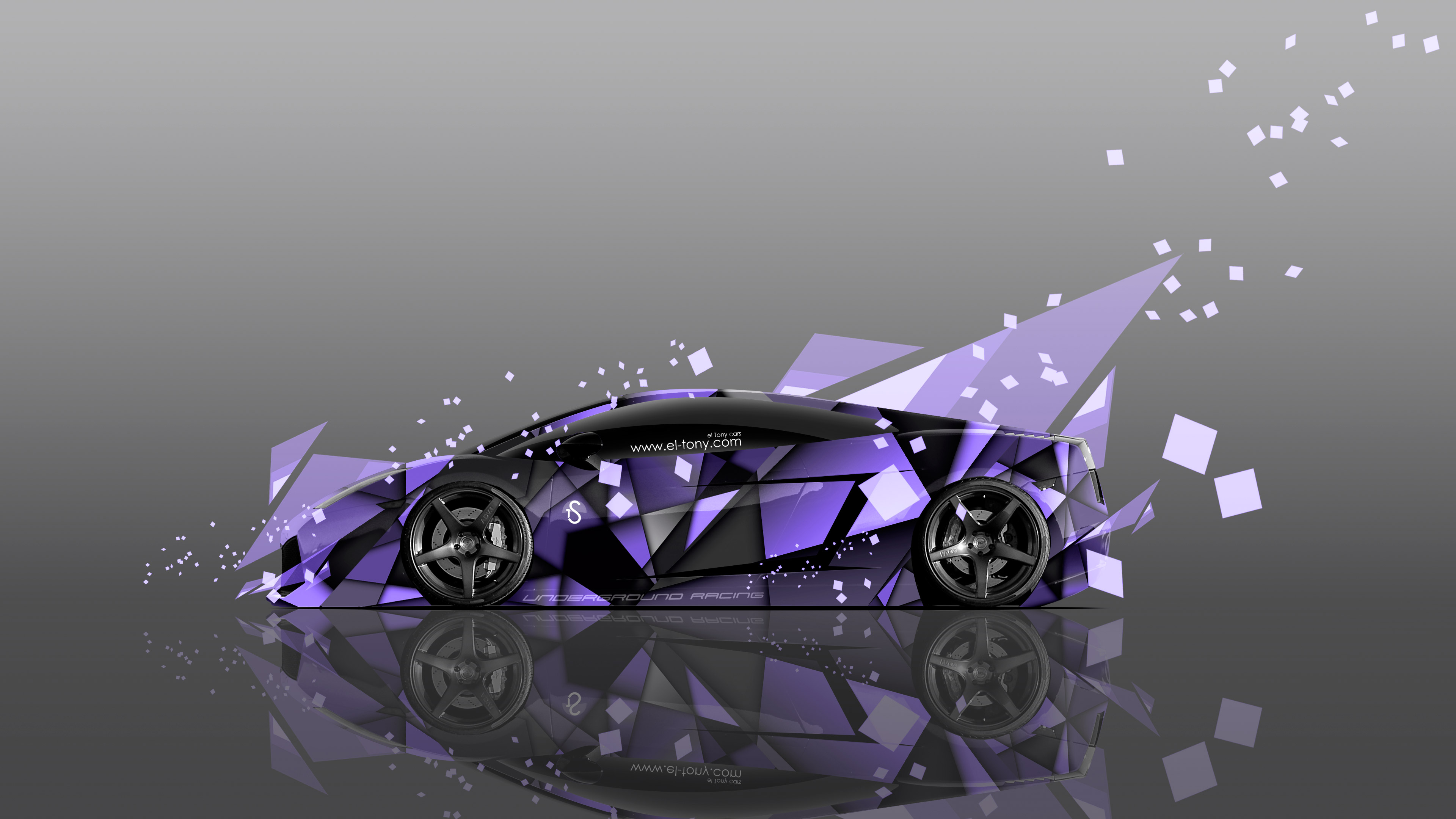 Superb Lamborghini Gallardo Side Abstract Aerography Car 2014 Violet