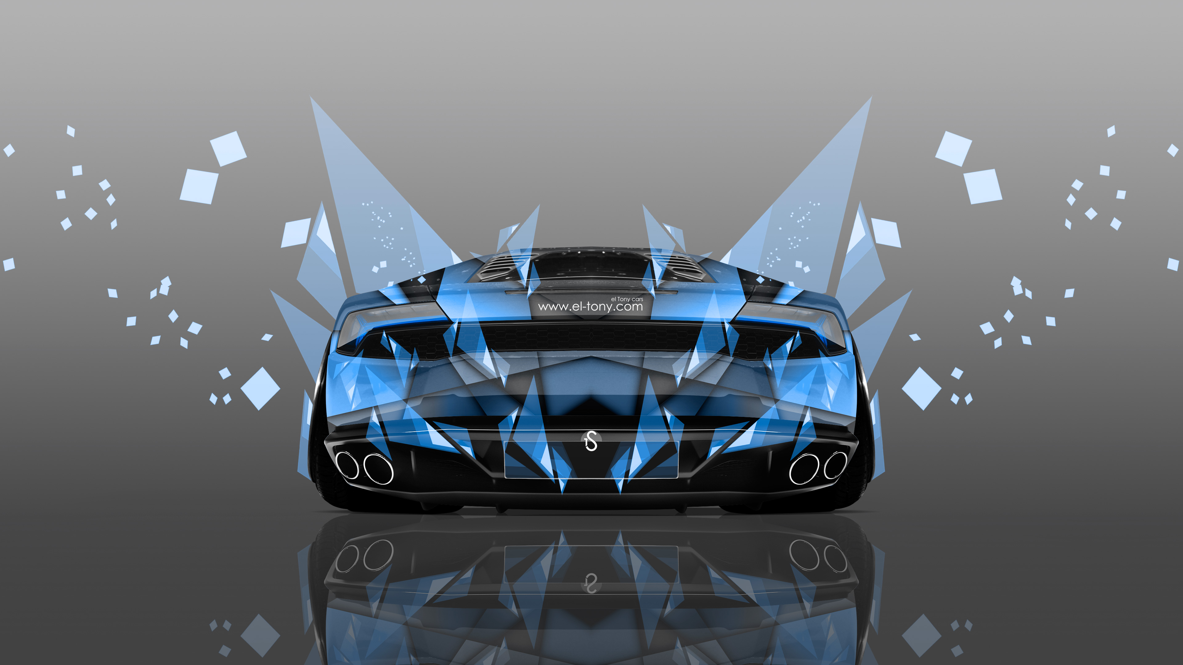... Lamborghini Huracan Back Abstract Aerography Car 2014 Blue  ...