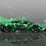 Lamborghini Huracan Side Abstract Aerography Car 2014