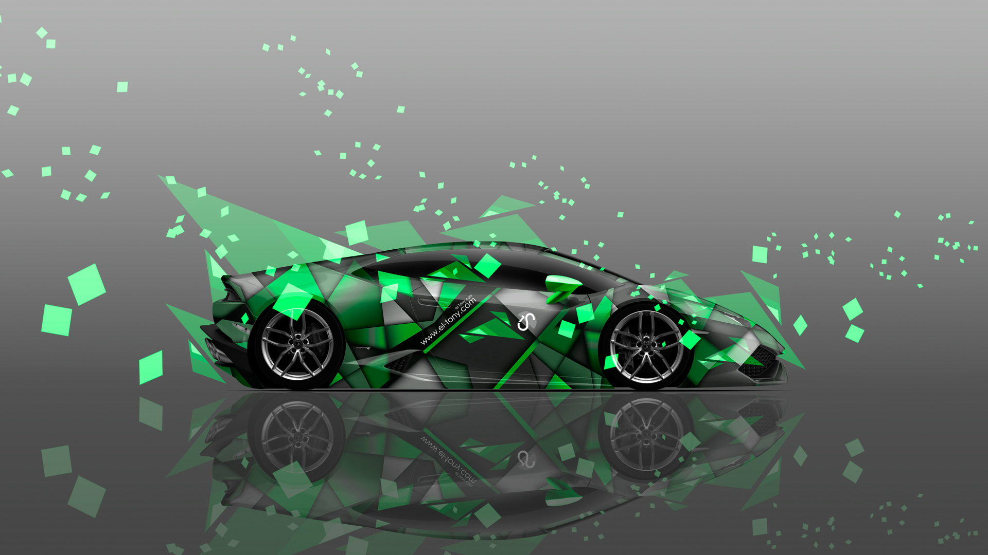 Delicieux Lamborghini Huracan Side Abstract Aerography Car 2014 Green